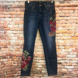 Nine West Gramercy Floral Skinny Stretch Jeans